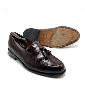 BOSTONIAN Leather Tassel Loafer Shoe 9Wide Slip-on